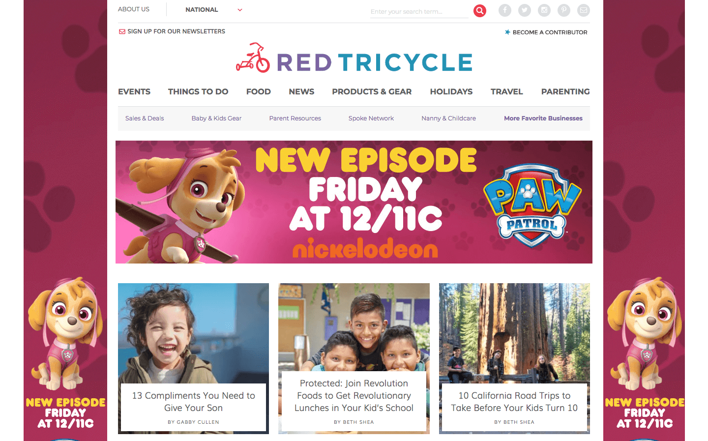 Red Tricycle homepage