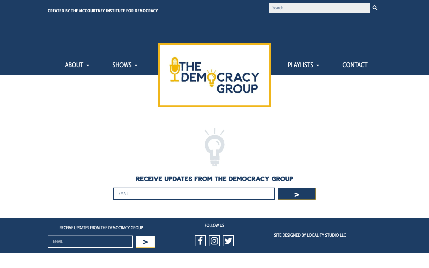 The Democracy Group homepage