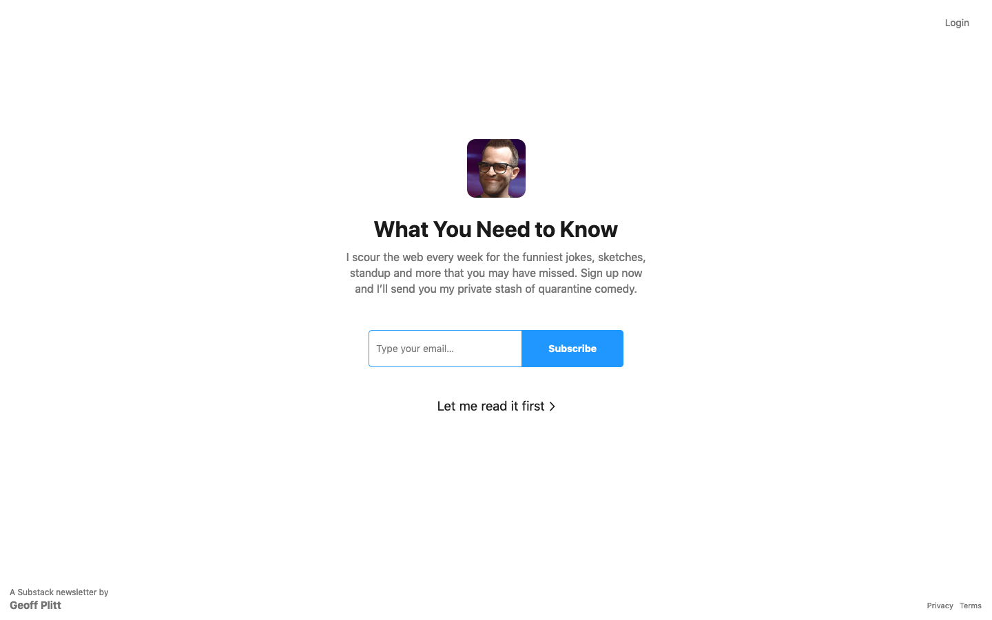 What You Need to Know homepage